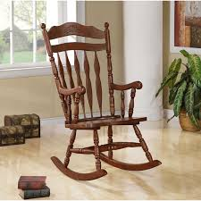 Kid Rocking Chair Solid Wood Rocking Chair Dark Walnut Walmart Com