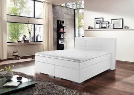 novel schlafzimmer trendiges boxspringbett prinz modern in weiß qualität hoch drei