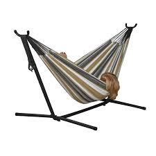 shop vivere desert moon fabric hammock stand included at lowes com