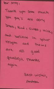 mahal idf volunteers letters from children