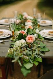 fresh flower table runner fresh floral table runners make the perfect wedding centerpieces