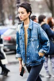 jean sweater jacket 18 styles to wear your denim jackets for pretty designs