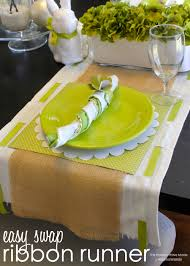 ribbon trimmed table runner