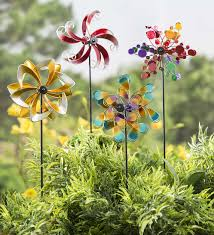 Garden Spinners And Decor Mini Metal Wind Spinners Set Of 2 Garden Spinner Wind Spinner