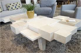 white stone coffee table the best glass and stone coffee table