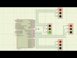 4 way traffic light using arduino 4 way traffic signal designed by using mplab and proteus youtube