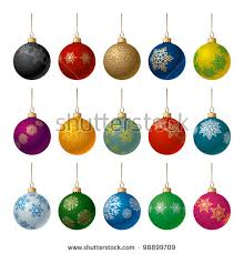 Matt White Christmas Decorations by Christmas Tree Decorations Isolated On White Stock Vector