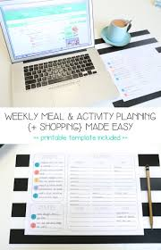 desk planner template weekly meal and activity planning shopping made easy mama weekly meal activity planning shopping made easy mama papa bubba
