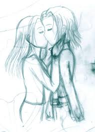 kiss sketch by armogirl5 on deviantart