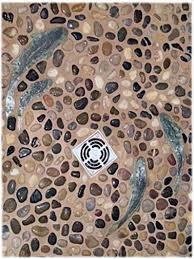river rock bathroom ideas miraculous river rock tile best 25 shower ideas on