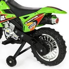 remote control motocross bike 6v kids electric motorcycle w training wheels green u2013 best