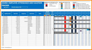 5 employee vacation tracking spreadsheet template cashier resumes