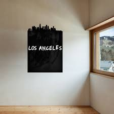 los angeles skyline chalkboard wall decal walls need love los angeles skyline chalkboard wall decal walls need love touch of modern