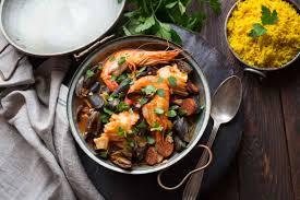 cuisine poisson marmite de la mer poisson fruits de mer riz basmati au curcuma
