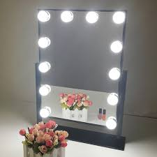 Table Top Vanity Mirror Hollywood Makeup Vanity Mirror With Light Dimmable Lighted