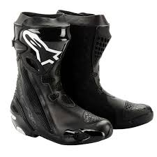 motorcycle boots uk alpinestars supertech r boots black free delivery uk mainland