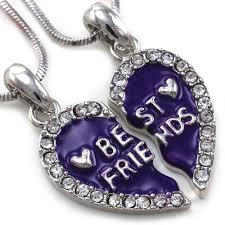 best friends heart necklace images Best friends forever bff lavender purple heart pendant necklace jpg