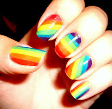 rainbow nails omg love these hair makeup glasses and