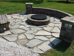 Dry Laid Bluestone Patio by Outdoor Living Unique Outdoor Seating Area Design With Center