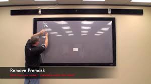 How To Hang A Projector Screen From A Drop Ceiling by Tv Projector Screens Screen Innovations