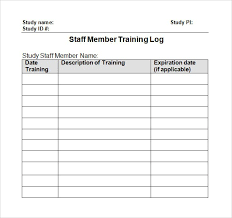 log template excel training workbook template s manual example 10