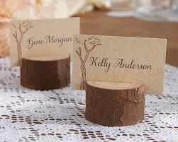 wood place card photo holder ourdoor wedding decorations by kate