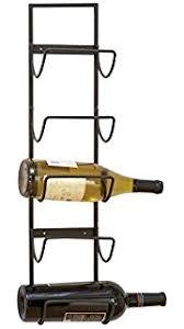 amazon com deco 79 metal wall wine rack 28 by 8 inch wall