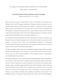 the myth of prester john and iberian visions of ethiopia pdf