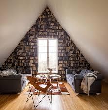 Trompe L Oeil Wallpaper by Dormer Window Photos Design Ideas Remodel And Decor Lonny
