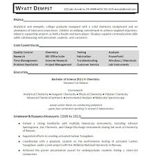 Entry Level Resume Examples With No Work Experience by Analytical Chemist Resume Resume For Your Job Application