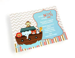 Noah S Ark Decorations Noah U0027s Ark Invitations For Baby Shower And Birthday Adore By Nat