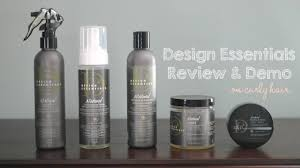 home design essentials design essentials natural hair products review youtube