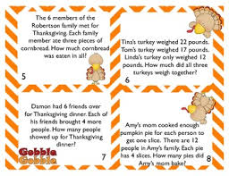 thanksgiving word problem task cards by free to teach tpt