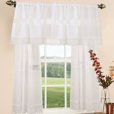 Lace Curtains And Valances Valance Lace Shower Curtain Foter