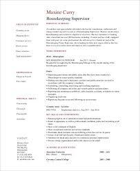 sample resume for housekeeping supervisor linux system engineer