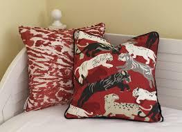 Pair Of Coordinating Designer Pillows Dwell Studio Rajita With
