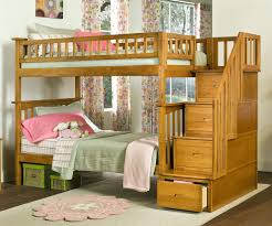 Columbia Bunk Bed Atlantic Furniture Caramel Latte Staircase Bunk Bed And