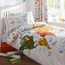 World Map Duvet Cover by Kids Map Bedding U2014 Lizzie Lees