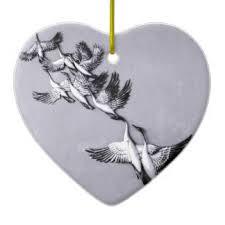 flying swan ornaments keepsake ornaments zazzle