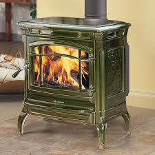 shelburne 8371 wood stove with with basil majolica enamel finish