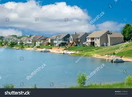 luxury vacation homes beautiful summer homes stock photo 11959696
