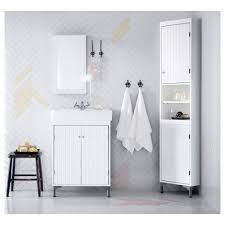 Ikea Bathroom Cabinet Doors Bathroom Silverån Hamnviken Sink Cabinet With 2 Doors Light