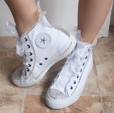 Wedding Shoes Converse Best 25 Wedding Tennis Shoes Ideas On Pinterest Wedding