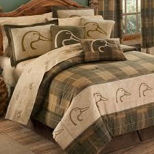 Plaid Bed Set Ducks Unlimited Plaid Comforter Bedding