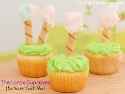 dr seuss cupcakes dr seuss treat idea lorax cupcakes my frugal adventures