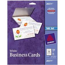 Free Avery Business Card Template by Avery R Matte Business Cards For Inkjet Printers 28371 Pack Of