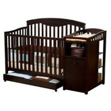 Convertible Crib Changing Table Baby Crib With Attached Changing Table Converts To Size Bed