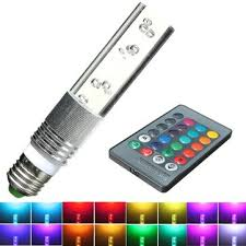 e27 3w rgb 16 color led crystal light bulb lamp with ir remote