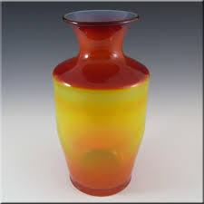 Blenko Vase Empoli Italian Or Blenko Large Amberina Orange Glass Vase 40 00