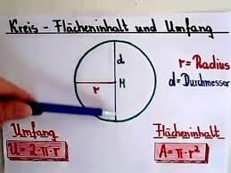 kreisfläche rechner kreis berechnen flächeninhalt und umfang
